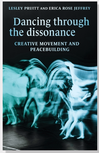Dancing through dissonance book cover blurred image of dancers